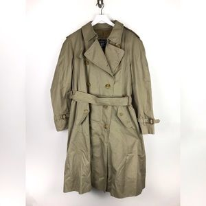 Burberry's Vintage Trench Coat & Button Wool Sz 40